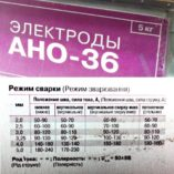 Электроды АНО-36