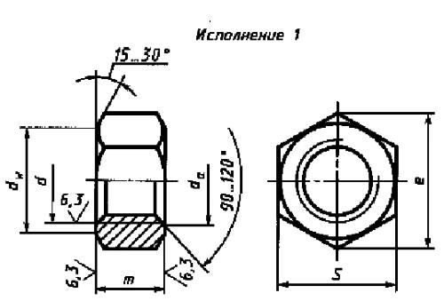 Гайки М6- М16 купить в Житомире (0412)418421