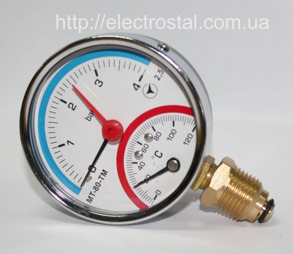 Термоманометр МТ–80–ТМ радиальный купить в Житомире (0412)418421